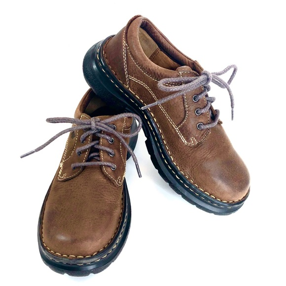 Born Other - Born Boys Brown Leather Oxfords Size 1